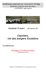 Conférence Cayolars et bergers