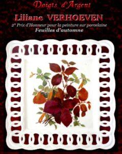 Liliane Verhoeven Peinture sur porcelaine