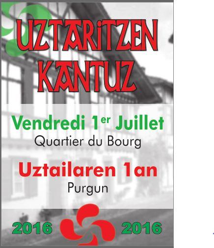 Uztaritzen Kantuz 1er juillet