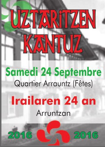 Uztaritzen Kantuz 24 septembre 2016
